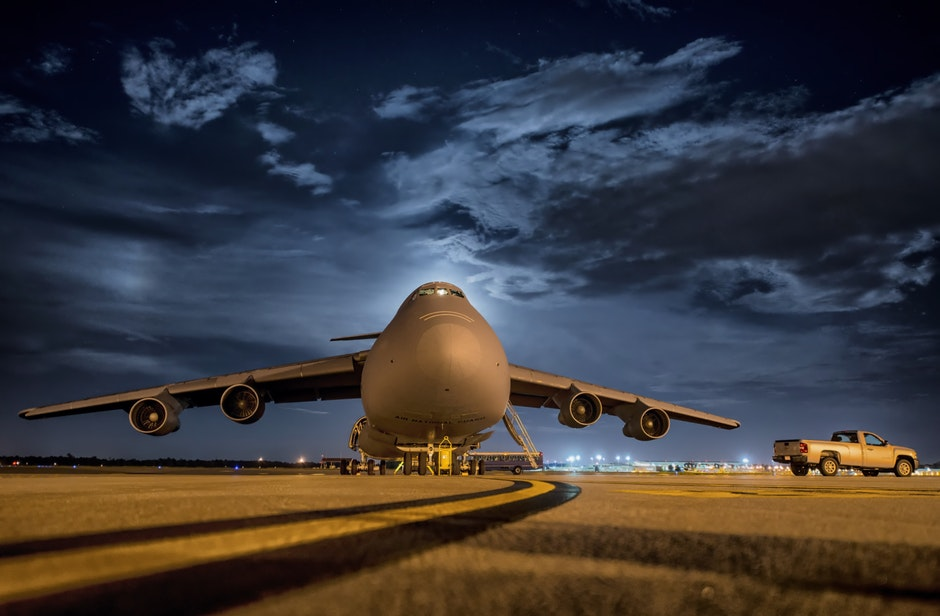 airbase with big plane